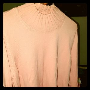 Brand new Long sleeve collared pink sweater